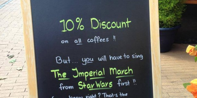 Imperial March Sign